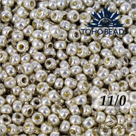 Toho Rokajl 11/0  PermaFinish - Galvanized Aluminum PF558 8g