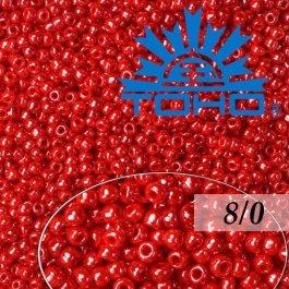 Toho Rokajl 8/0 Opaque-Lustered Cherry č.125 10g