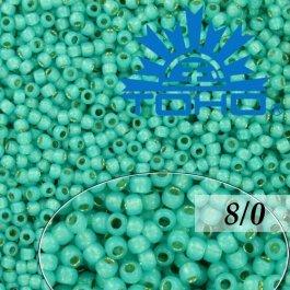 Toho Rokajl 8/0 Silver-Lined Milky Teal č.2104 10g