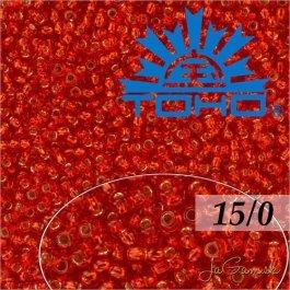 Toho Rokajl 15/0 Silver-Lined Siam Ruby, 8g (č.25B)
