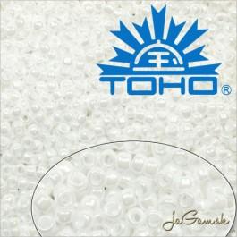 Toho Rokajl 8/0  Opaque-Lustered White č.121 10g