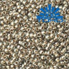 Toho Rokajl 11/0 - Gold-Lined Black Diamond č.993 25g