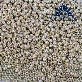 Toho Rokajl 15/0  PermaFinish - Galvanized Aluminum PF558 5g