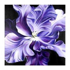 Diamantové maľovanie - fialový kvet 30x30 cm (ml002)