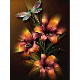 Diamantové maľovanie - Kvety 40x30 cm (ml007)